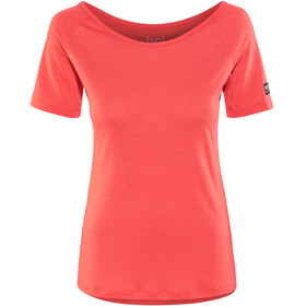 super.natural Essential Scoop Neck Tee 140 t-shirt Dames rood